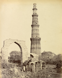 The Kutub [Qutb] Minar & great arch, Delhi